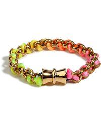 Bex Rox - Golden Fluoro Friendship Bracelet - Lyst