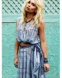 Free People Fp New Romantics Geo Embroidered Cutout Dress - Lyst