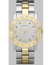 Marc By Marc Jacobs Crystal Two-Tone Stainless Steel Watch - Lyst