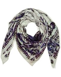 Balmain White Modal and Cashmere Blend Scarf - Lyst