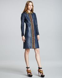 Burberry Prorsum - Beaded Single-breasted Trenchcoat - Lyst