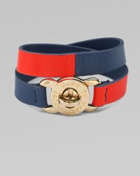 Marc By Marc Jacobs Double-wrap Turn-lock Leather Bracelet - Lyst