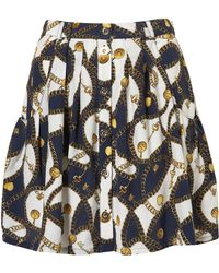 Topshop Chain Print Skirt - Lyst
