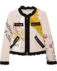 Moschino Printed Cotton Jacket - Lyst