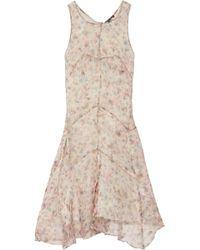 Theyskens' Theory Printed Silk-Chiffon Dress - Lyst