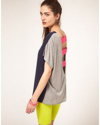 ASOS Collection Asos T-shirt with Jersey and Elastic Back - Lyst