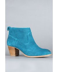 Dv By Dolce Vita The Jamison Boot In Teal Suede - Lyst