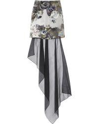 Aminaka Wilmont Printed Chiffon and Stretch-cotton Mini Skirt - Lyst