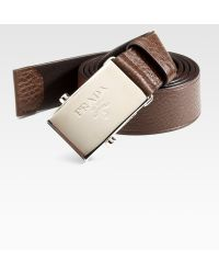 Prada Leather Cinture Belt - Lyst