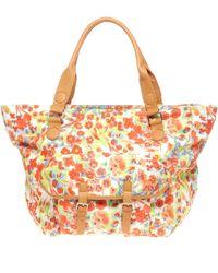 ASOS - Asos Floral Print Pocket Shopper Bag - Lyst