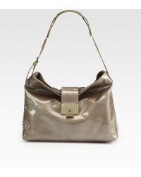 Jimmy Choo Rachel Enamel Patent Leather Shoulder Bag - Lyst