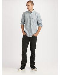 J Brand Slim Straight-leg Twill Pants - Lyst