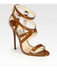 Jimmy Choo Gael Strappy Leather Sandals - Lyst