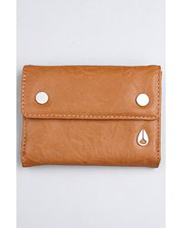 Nixon The Mint Small Wallet in Saddle - Lyst