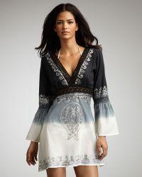 Debbie Katz - Kimono Dip-dye Tunic, Black - Lyst