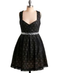 ModCloth Eyelet Up The Room Dress - Lyst