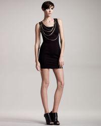 Balmain Sleeveless Chain Dress - Lyst