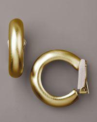 Kenneth Jay Lane Clip Hoop Earrings - Lyst