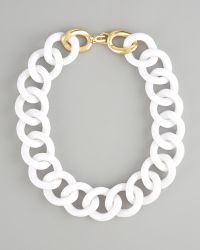Kenneth Jay Lane - Chunky Resin-link Necklace - Lyst