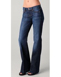 7 For All Mankind Dojo Flare Jeans - Lyst