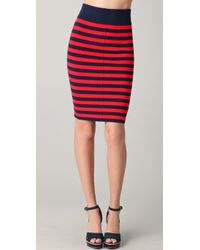 Juicy Couture - Full Needle Striped Pencil Skirt - Lyst