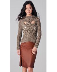 Nellie Partow - Ayer Metallic Sweater - Lyst