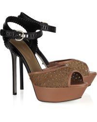 Sergio Rossi Leather and Calf-hair Sandals - Lyst