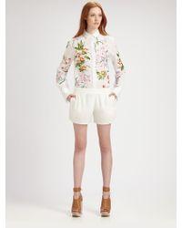 Chloé Cotton Floral Blouse - Lyst