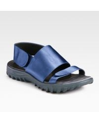 Christopher Kane Sporty Silk and Satin Sandals - Lyst