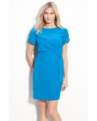 Donna Morgan Silk Crêpe De Chine Dress - Lyst