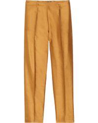 Gianfranco Ferré - Slubbed-Silk and Cotton-Blend Trousers - Lyst