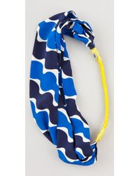 Juicy Couture - Printed Silk Headband - Lyst