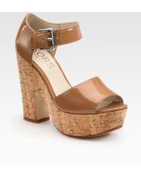 f31360094d0d Kempton Plateau Suede Mary Jane Pumps.  250 Sold out. Saks Fifth Avenue ·  Kors by Michael Kors - Korey Patent Leather Cork Platform Sandals - Lyst