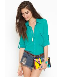 Nasty Gal Buttoned Up Blouse - Lyst