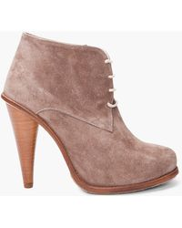 Opening Ceremony  Suede Booties - Lyst