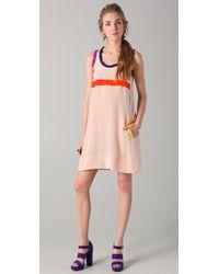 Sonia by Sonia Rykiel Tank Dress with Contrast Trim - Lyst