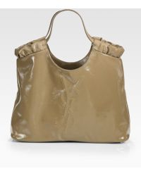 Saint Laurent Ysl Belle De Jour Medium Patent Leather Shopping Bag - Lyst