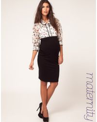 Asos Maternity Jersey Pencil Skirt - Lyst