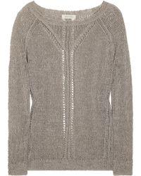 Inhabit Open-weave Knitted Linen-blend Sweater - Lyst