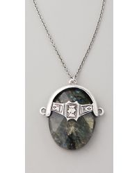 Low Luv by Erin Wasson - Labradorite Afghani Toggle Necklace - Lyst
