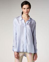 Theyskens' Theory - Silk Button-front Blouse - Lyst