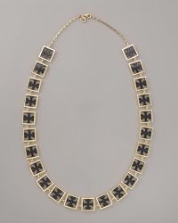 Tory Burch Julian Rosary Necklace - Lyst