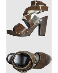 Studio Pollini Platform Sandals - Lyst