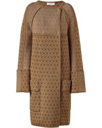 Pringle of Scotland -  Diamond Zig Zag Knitted Coat - Lyst