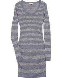 Rebecca Taylor Metallic Striped Knitted Dress - Lyst