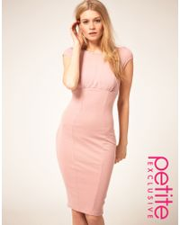ASOS Collection Asos Petite Exclusive Sexy Pencil Dress with Chiffon Detail - Lyst