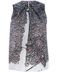 Balenciaga Printed Sleeveless Top - Lyst