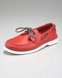 Ferragamo Boat Shoe - Lyst