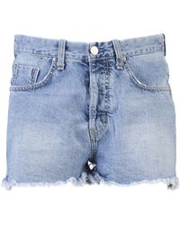 MiH Jeans Halsy Cut-off Short - Lyst