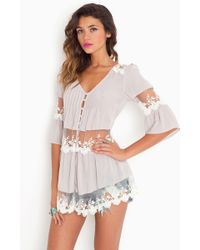 Nasty Gal Ashbury Lace Top  purple - Lyst